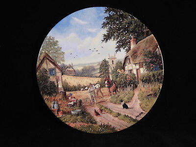 "Royal Doulton Collectors Plate, ""Cutting The Corn"", The Harvest Home Series"