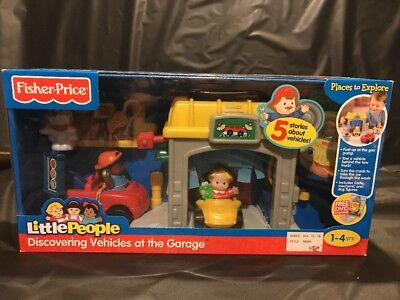Fisher Price Little People Discovering Vehicles At The Garage Car Wash New