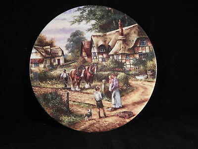 "Wedgwood Collectors Plate ""Ploughing"" the Country Day Series"