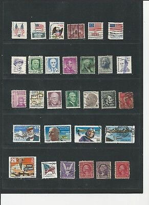 USA - COLLECTION OF USED STAMPS (2 PHOTOS) - #UA33ab