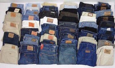 Joblot x 51 pairs Mixed Jeans Diesel Levis Lee + More  ( GRADE B + C ) Ref : A3