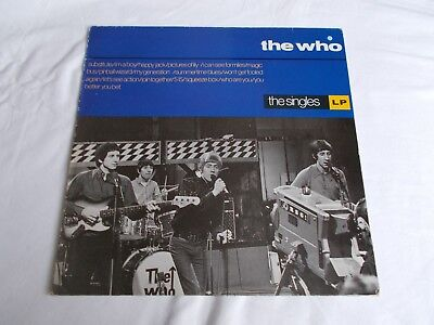 The Who.   Uk Lp.   The Singles.   1984.  Whoh 17.     A1  B1