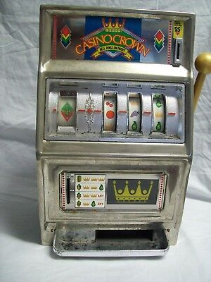 Vintage Waco Casino Crown Slot Machine Coin Bank Play Free Made in Japan