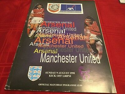 Arsenal v Manchester United FA Charity Shield 1998