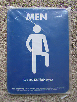 Captain Morgan Plastic Men's Room Sign Advertising Got a Little Captain In You