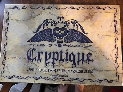 Cryptique A Spirit Board From Salem Massachusetts Complete