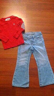 77Kids by American Eagle Girl's Flare Jeans adjustable waist Size 4 (Jeans ONLY)