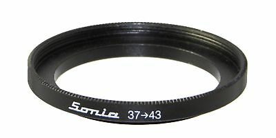 37mm to 43mm Step up Ring Filter Stepping Adapter Sonia 37 43