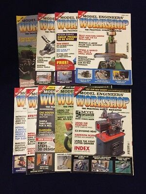 Model Engineers Workshop Magazine 9 Issues from 2009 lathe  ..more