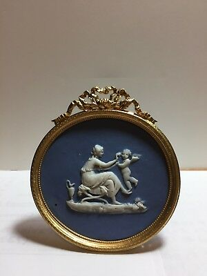 Antique  Picture Frame With Wedgwood Style Plaque