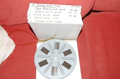007 From Russia With Love  Exc Print Boxed Brilliant Super 8Mm 7 X 600Ft Reels
