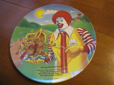 Vintage 1989 McDonalds The McNugget Band Collector Plate