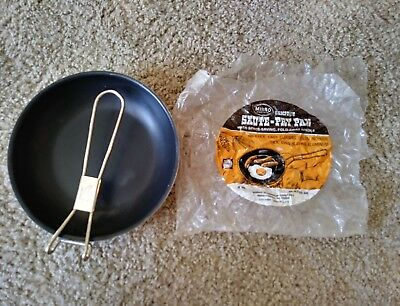 Vintage 8 in Non-Stick Unfold Skillet MIRRO  Aluminum Pan Camping Gear