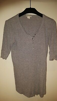 H&M maternity top, grey, size 10