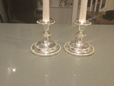 antique silver plate candle stick