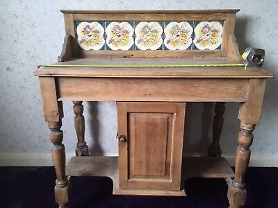 Antique Victorian Wash Stand, Wooden, Pine, Vintage, Shabby Chic, cupboard.