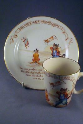 Very Rare Royal Doulton The Cat And The Fiddle Nursery Rhymes Ware - Perfect