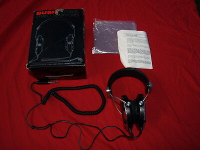 Vintage Bush BX9301AA Chrome Headphones 1980s