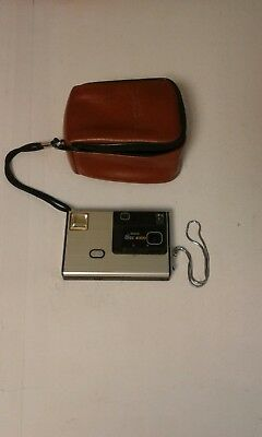 Vintage 1980s Kodak DISC 4000 Camera with Brown Leather Case 80's EUC