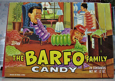 1989 Topps Barfo Family Full Candy Box
