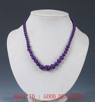 100% Natural Jade Hand-carved Bead necklace XL037