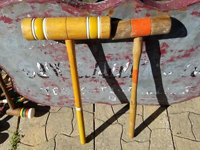 """Vintage Replacement 25"""" Large Croquet Mallet Choice Of One Spiral Handle"""