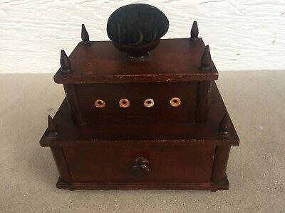 Vintage Sewing Shaker Box Wooden, FAST SHIP! RARE only 1 like it on eBay! LOOK!