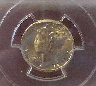 1944 D PCGS MS64FB Mercury Dime
