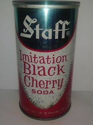 Staff Imitation Black Cherry Pull Tab Soda Can - Pre Zip - Great Neck, Ny!! Rare