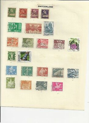 SWITZERLAND - COLLECTION OF USED STAMPS (2 PHOTOS) - #SWI2ab