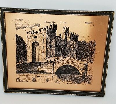 Bunratty Castle Vintage Copperplate Picture Irish Souvenir County Clare VGC 1977