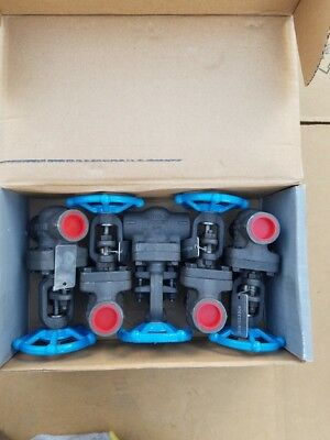 """NEW!! Lot of (5) 3/4 """" 0800 Smith Forged Steel Gate Valves body A105"""