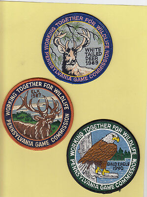 """PA Pennsylvania Game Fish Commission NEW 1989 4"""" White Tail Deer Patch ~Original"""