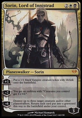 Sorin, Lord of Innistrad SP Dark Ascension MTG Magic The Gathering Gold Eng Card
