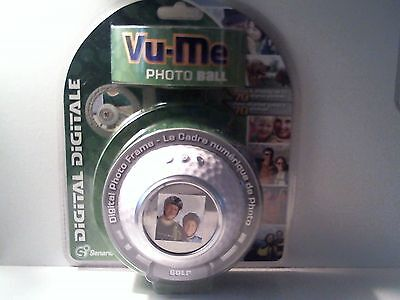Mint Sealed 2007 Senario Vu-Me Photo Golf Ball Digital Photo Frame - 70 Photos