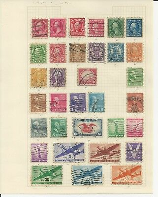 USA - COLLECTION OF USED STAMPS (4 PHOTOS) - #USA34abcd