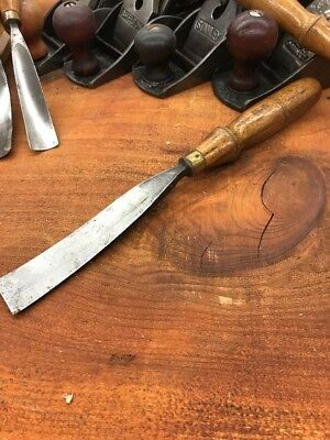 S.J. Addis Cast Steel Gouge 1 1/8 Chisel From The Early Years No 12