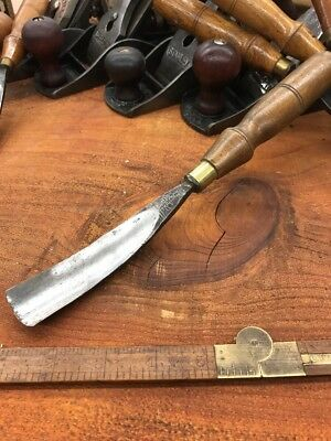 S.J. Addis Cast Steel Gouge 1 Chisel From The Early Years No 16