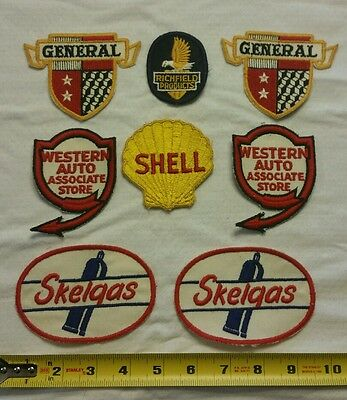 VINTAGE Embroidered Automotive Gasoline Patch (Original-UNUSED) LOT of 8