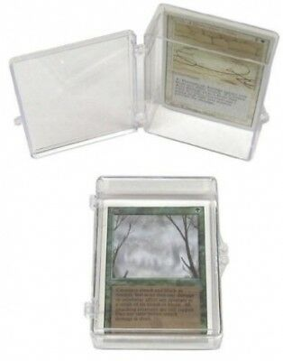 10 BCW Brand 55 Trading Card Capacity Hinged Box / Holder / Case - TCBRHB55 -