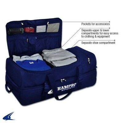 (Navy) - CHAMPRO Sports® Ultimate Catcher / Umpire Equipment Bag w/ Detachable