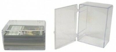 5 BCW Brand 100 Trading Card Capacity Hinged Box / Holder / Case - TCBRHB100 -