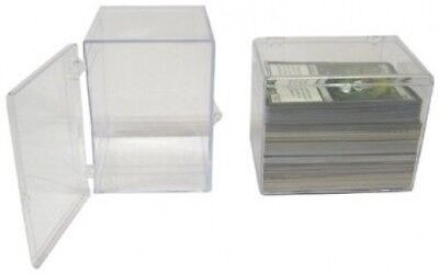 5 BCW Brand 15 Trading Card Capacity Hinged Box / Holder / Case - TCBRHB15 -