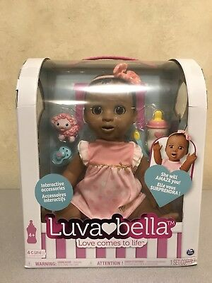 Luvabella Responsive Baby Doll African American Luva Bella 2017 Christmas Toy!