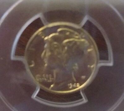 1942D  PCGS MS64FB Mercury Dime