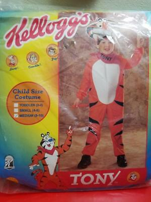 Vintage Kellogg's Tony The Tiger Halloween Childs Costume Med 8-10 New/old Stock