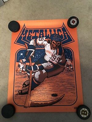 Metallica Edmonton Show Poster. Orange Variant. Ames Bros.