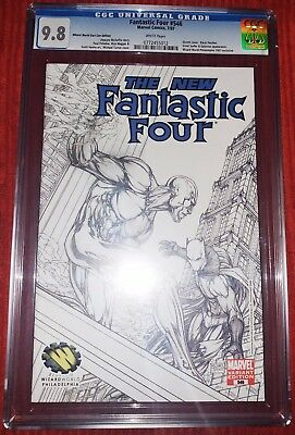 Fantastic Four 546 Sketch Variant CGC 9.8 NM Michael Turner Stan Lee Slabbed New