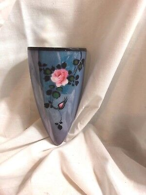 Vintage Wall Pocket Art Deco Lusterware Hand Painted Japan Flowers