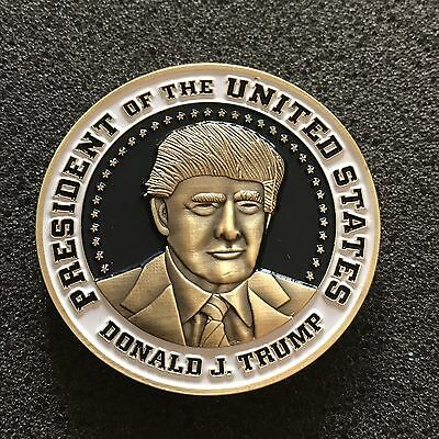 Super Rare Nypd Donald J. Trump Presidential Residence Detail Challenge Coin
